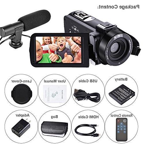 Full HD Camcorder Digital Camera Camera for Camera and Remoter