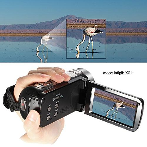 """Video Full 1080p Video Night Vision 3"""" Touchscreen Recorder"""