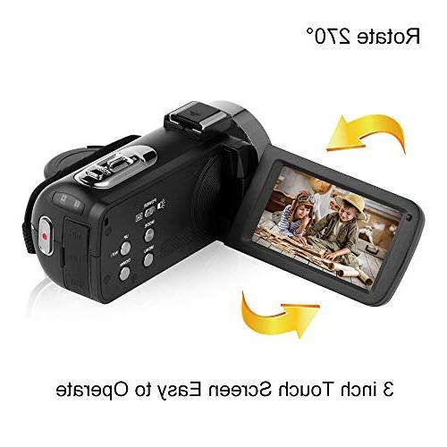 SEREE Full with Remote Control IR Vision LCD Touch Screen Video Camera Microphone