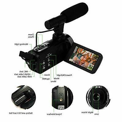 "SEREE Camcorder 4K WiFi 3.0"" Touch"