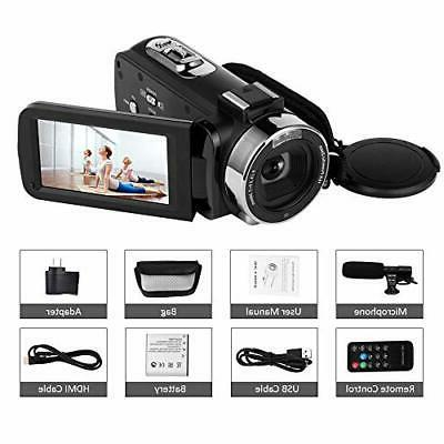 "SEREE Camcorder 30MP WiFi Camera 3.0"" Touch"