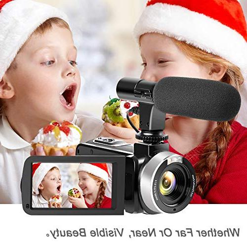 Camcorder Digital WiFi Camcorder with Night Vision Full HD 1080P 30FPS LCD Screen for YouTube with