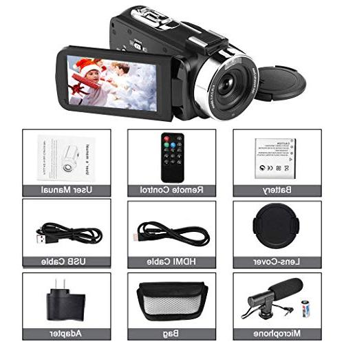 Camcorder Digital Video Camera, WiFi Camera with IR Vision Full HD 1080P 30FPS Touch Screen Vlogging YouTube with