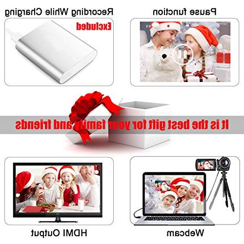 Camcorder Video WiFi with Microphone Night Vision Full 30FPS Screen YouTube Control