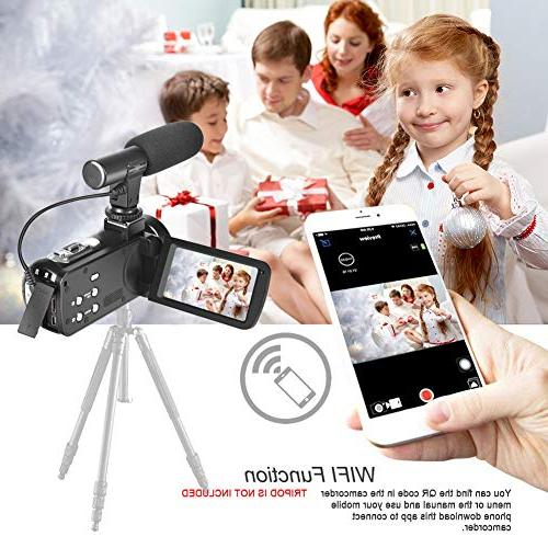 Camcorder WiFi with IR Night Vision Full 30FPS Screen for YouTube with