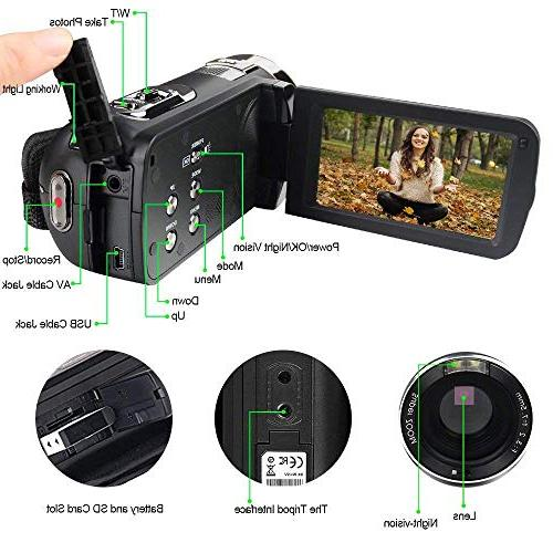 Camcorder Digital with IR Night Digital Pixels 18X for Pause