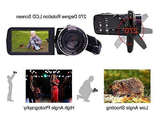 Camcorder IR Vision Digital Video Camera Pixels 18X for Selfie