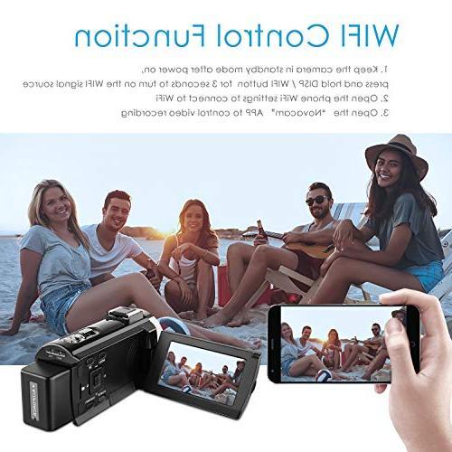 4k Camera 48MP 3 Video Camera Camcorder,Capactive IR Infrared Night 16X Digital Zoom