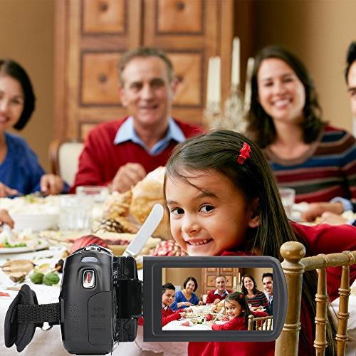 """Camcorder,Bekhic Night Handy 24MP Video Camera DV with 3.0"""" LCD Touchscreen"""
