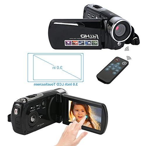 "Camcorder,Bekhic Night Handy Camera 24MP 16X Zoom Video Camera 3.0"" Touchscreen"