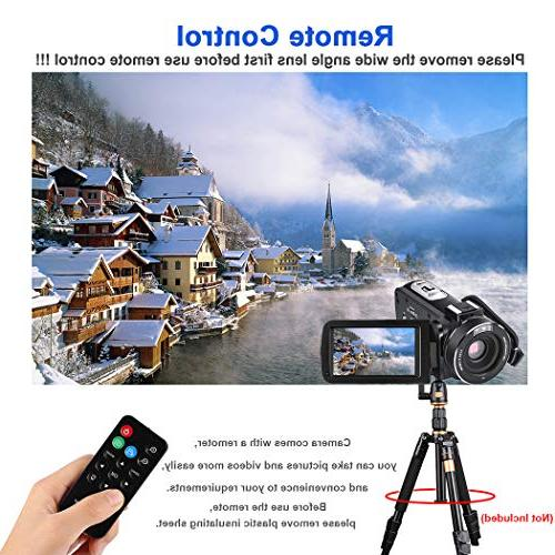 Video YouTube CofunKool Full HD 1080P 24.0MP Digital with External Microphone Wide Lens