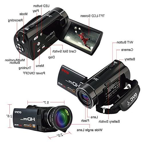 ORDRO Video Camcorder Camera External and
