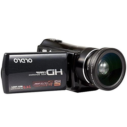 ORDRO Video Camcorder External Wide