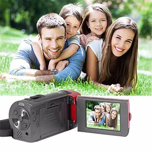 Camera Fosa 1080P DV Handy Video Camcorder 16X Zoom with and 270 Degree Rotation