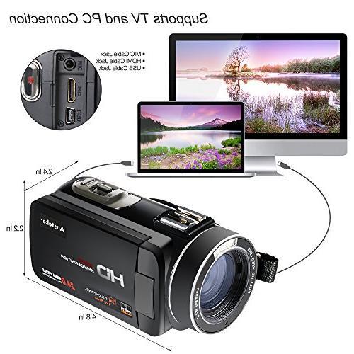 Video Control WiFi Camera HD 1080P 24MP Video Digital Video External Microphone