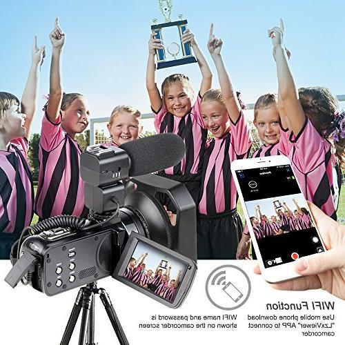 Video Camcorder,Ansteker WiFi Video HD Video Camcorder Digital Video External Hood