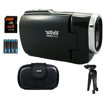 Vivitar 2.7-Inch Digital Camcorder Black 8GB Accessory Kit
