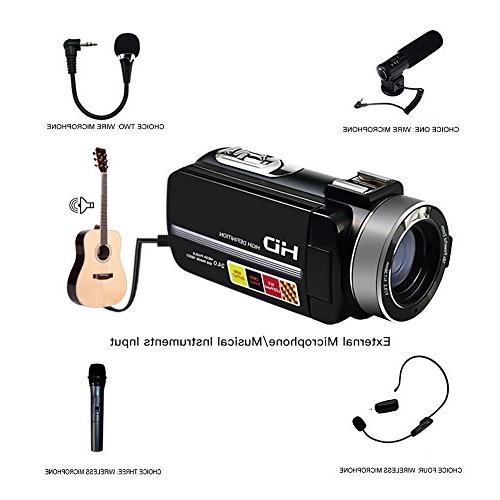 "SEREE Camcorder Microphone Night Full Video 3.0"" Screen Hot Shoe"