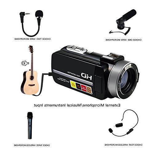 "SEREE Camcorder Microphone Night Full Video 3.0"" Screen Hot Shoe"