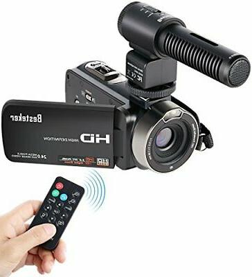 Video Camcorder, Besteker FHD 1080p Camcorders with External
