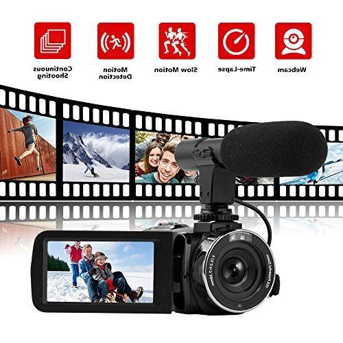 Camcorder Video Full HD Camcorder Camera Digital Vlog YouTube