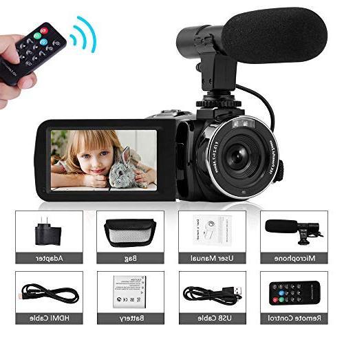 Camcorder Video HD Night Vision Camcorder Camera 16x Vlog YouTube