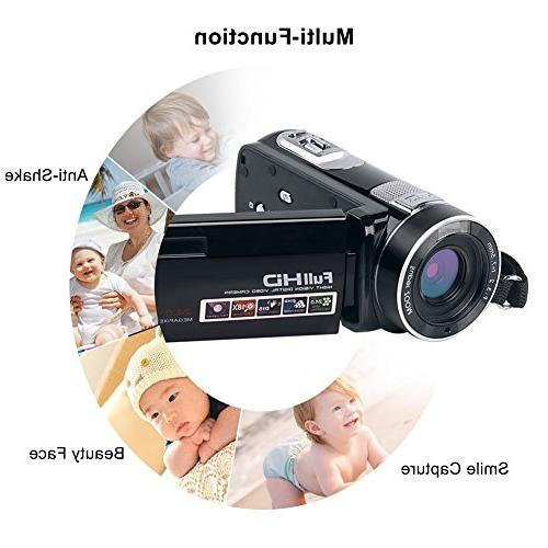 Camcorder Digital HD Video Camera 24.0MP Night Vision Camera 18X with
