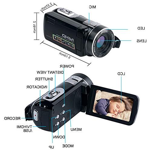 Camcorder Digital HD 24.0MP Night Camera with Remote