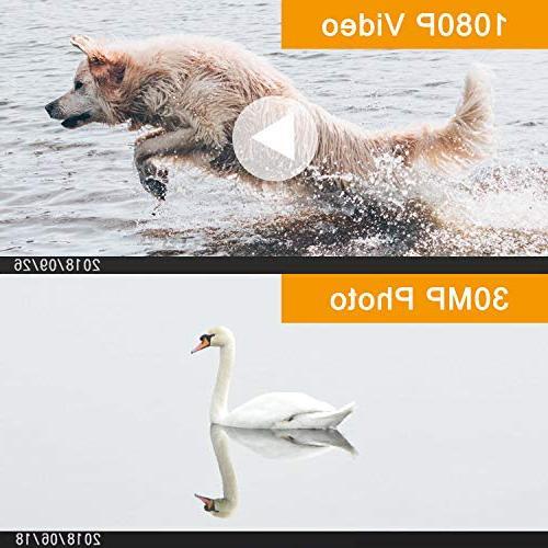 Video Camera Camcorder 1080P Digital Camera YouTube Vlogging External Microphone Remoter