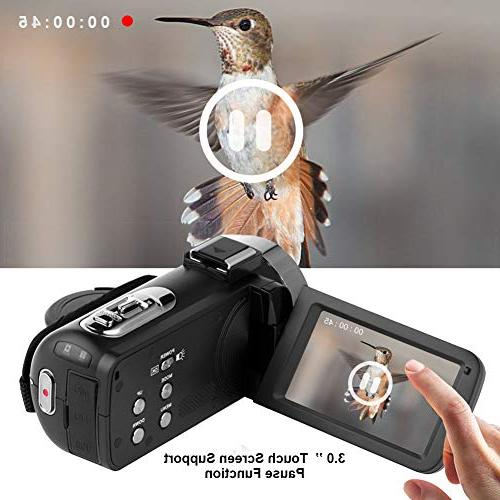 Video Camera Digital Night Vision YouTube Vlogging External Microphone and Remoter