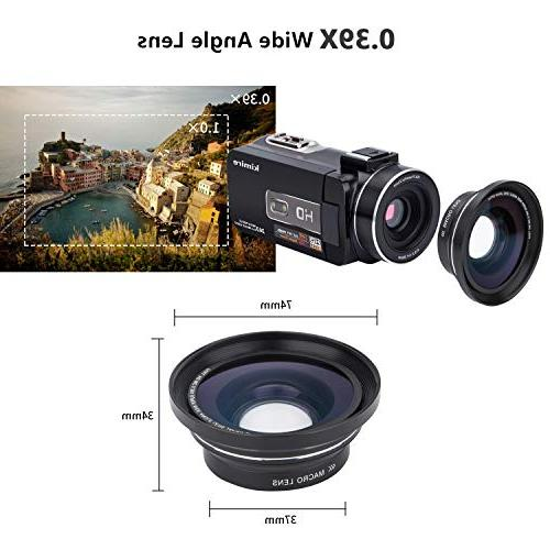 Camera Kimire 1080P 16X Zoom Video Microphone Lens 3.0 Screen 24 Control Infrared Night Vision
