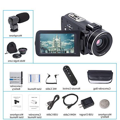 Camera Camcorder Kimire 1080P Zoom Lens 3.0 Inch 24 MP Infrared Night