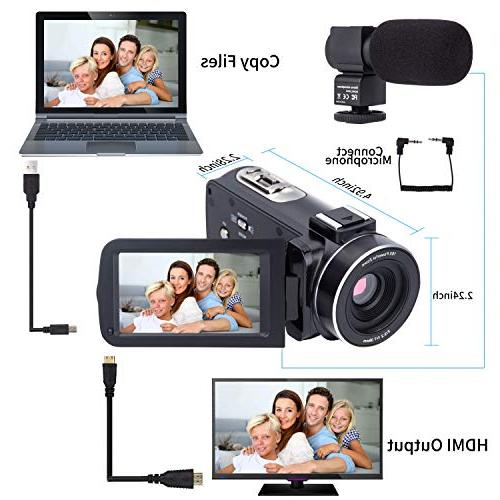 Camera 1080P Digital Zoom Camera Microphone Lens Inch 24 Remote Control Infrared Night