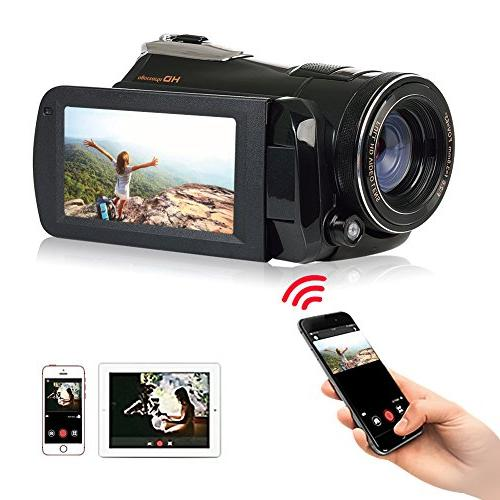 Camcorder Camera Recorder FHD WiFi With Vision LCD Screen