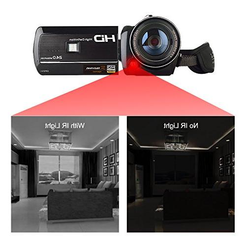 Camcorder Digital Recorder WiFi Connection With Vision Screen