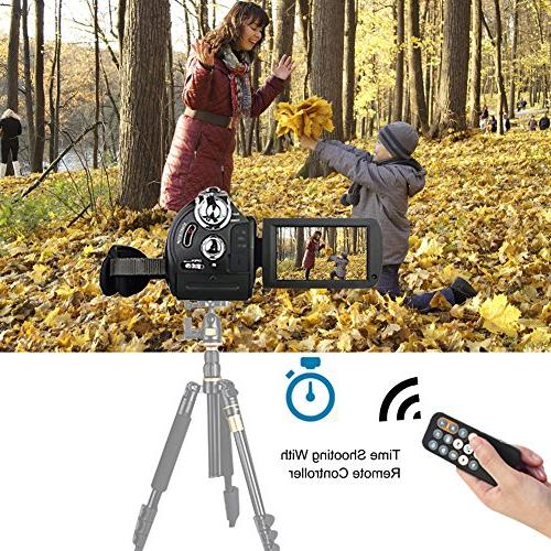 """Camcorder Camera Recorder FHD 24MP WiFi Connection With Night Vision 3"""" Screen"""