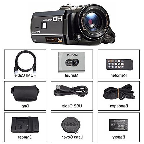 Camcorder Digital Recorder FHD WiFi Connection Vision LCD Screen