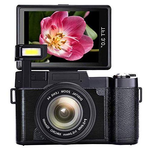 camcorder recorder zoom retractable flash