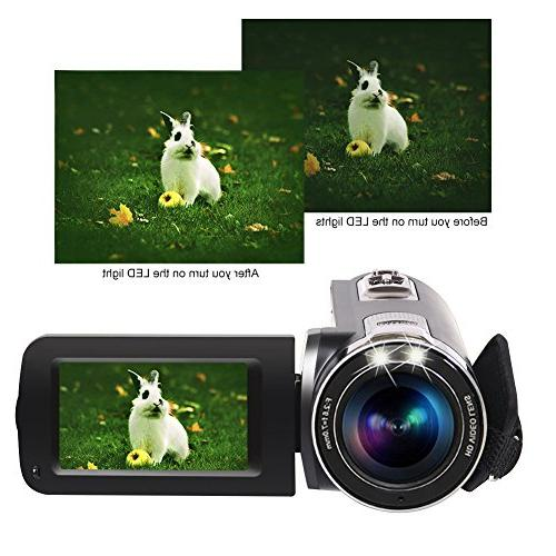 Camcorder Video Full HD 1080p Camera 3.0 Inch Degree Screen Recorder Pause Function…