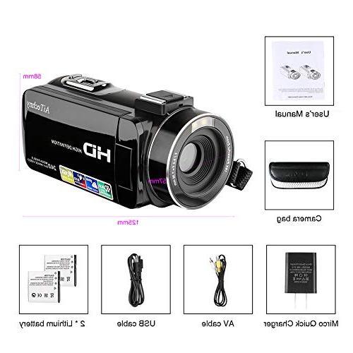 Video Camera HD Camera 3.0 inch 270 Degrees 16X Recorder 2