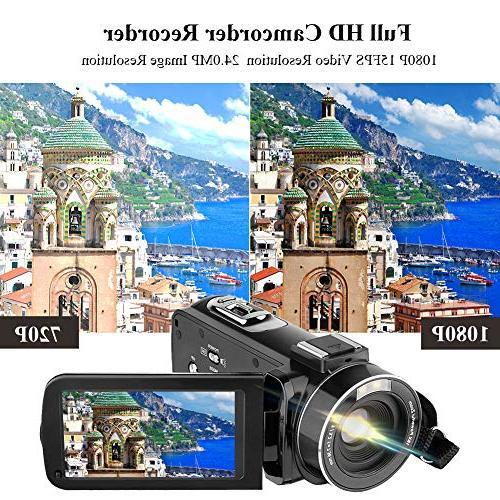 Video Camera HD Camera 3.0 270 Degrees 16X Digital Recorder