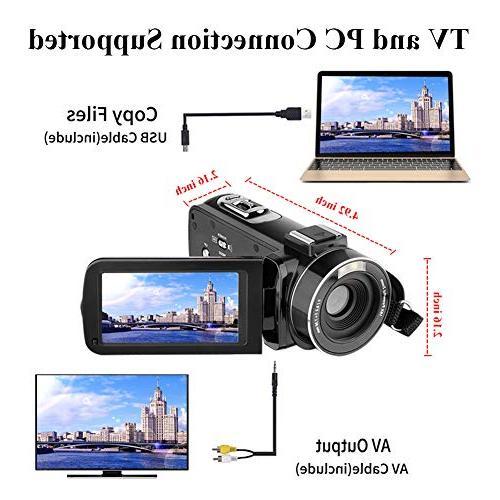 Video Camcorder HD 24.0MP Digital Camera 270 Degrees Rotatable Screen 16X Digital Zoom Camera Recorder 2