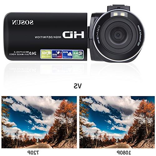 Video Camera HD 1080P 24.0MP 3.0 Inch 270 Rotatable Screen 16X Zoom and