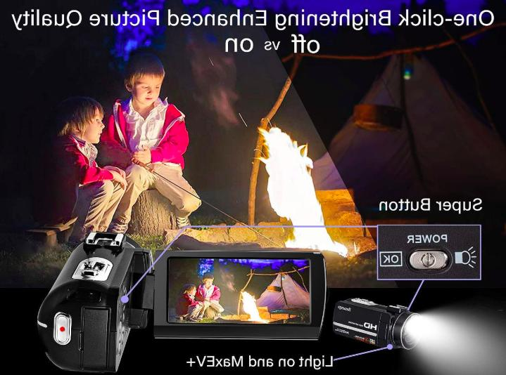 Camcorder Video HD Vlogging YouTube Digital Recorder Camera