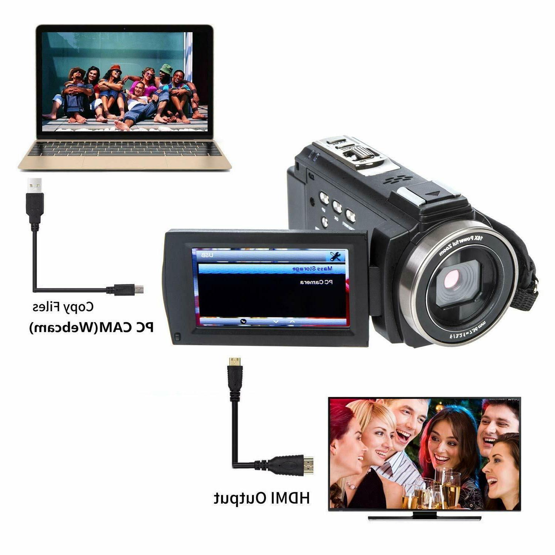 YEEHAO Camcorder Video WiFi HD 16X Digital