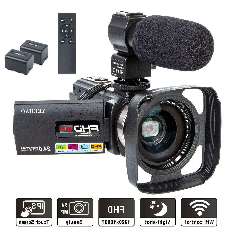 camcorder video camera wifi hd 1080p 24mp