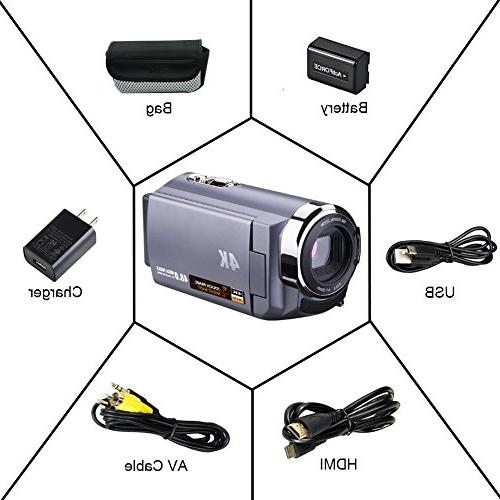 SEREE 4K WIFI 3.0'' Touch Vision Camcorder