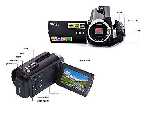 SEREE Camera FHD 1080P Night 20MP 16X Zoom Inch