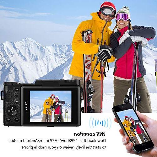 Seree Camera Camcorder WiFi Camera Ultra Camcorders Vlogging UV