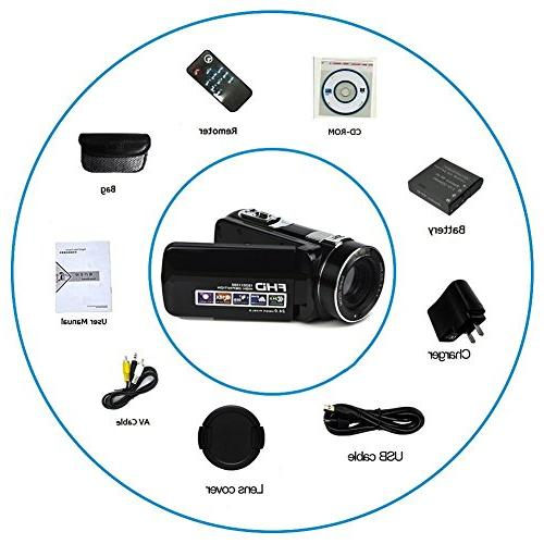 """Video Full 1080p Digital Camera 24.0MP 18x 2.7"""" LCD 270° Screen With"""